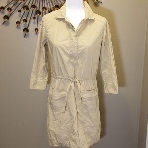 J Crew Drawstring shirt dress